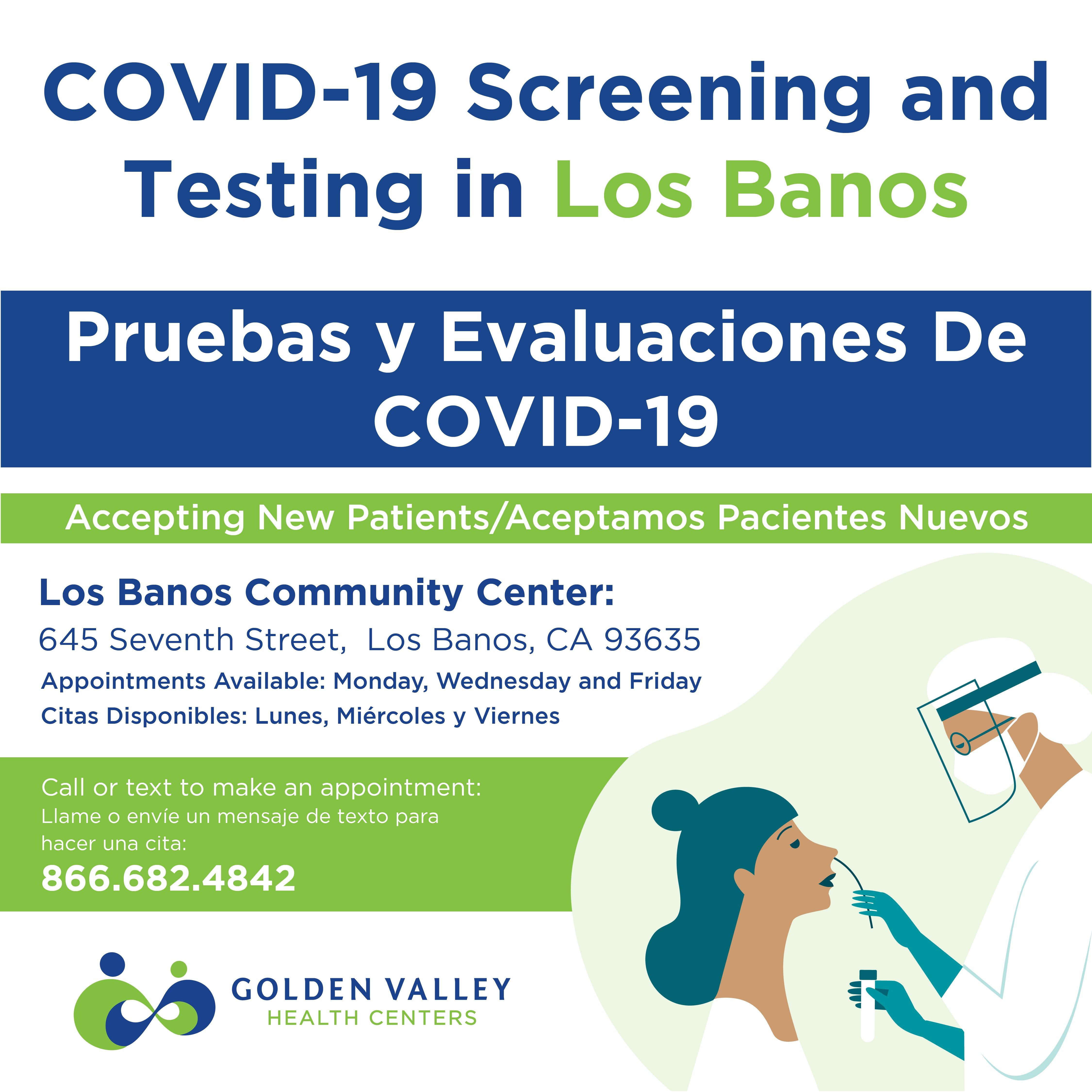 Los Banos Testing Site Information